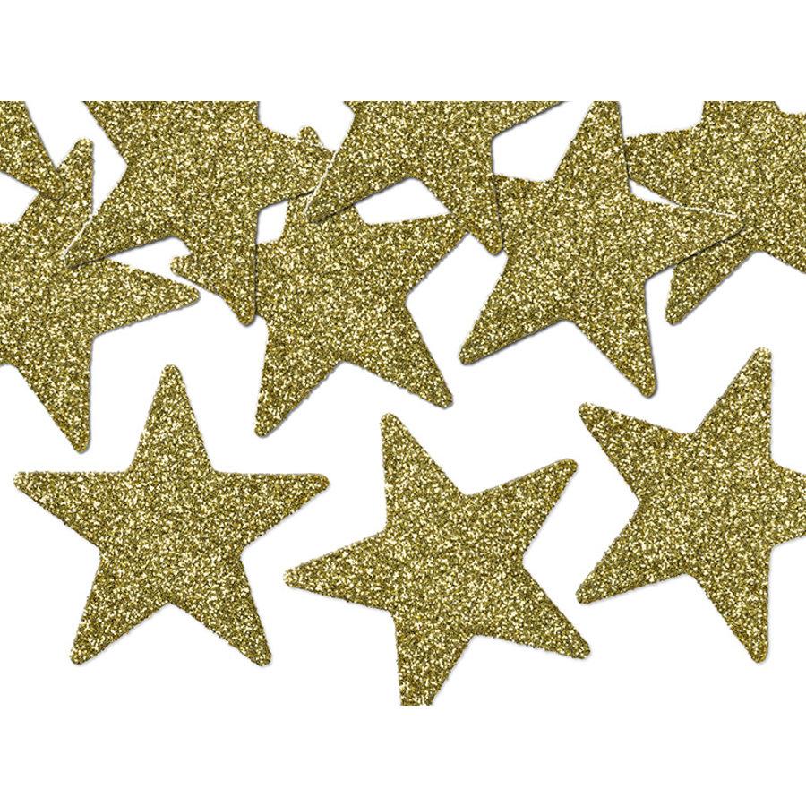 Tafelconfetti goud sterretjes 5 cm (8 st.)-1