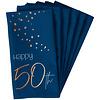 Perfect Decorations Serviettes en papier 50 ans blue (10 pcs)