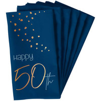 Servet Happy 50th  blauw  (10 st.)