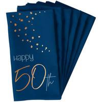 Serviettes en papier 50 ans blue (10 pcs)