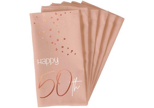 Serviettes en papier 50 ans corail (10 pcs)