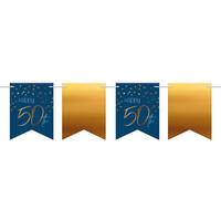 Slinger Happy 50th  blauw (6 m)