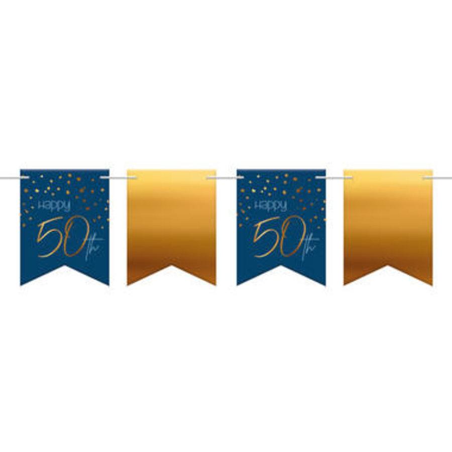 Slinger Happy 50th  blauw (6 m)-1