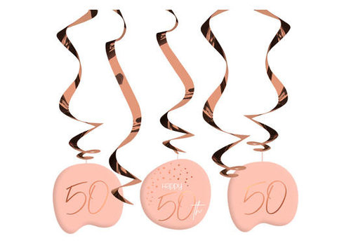 Suspensions Happy 50th corail (5 pcs)