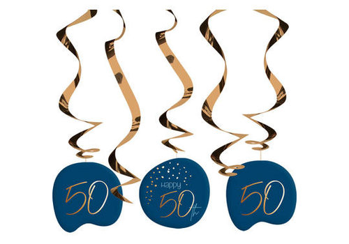Suspensions Happy 50th bleu (5 pcs)