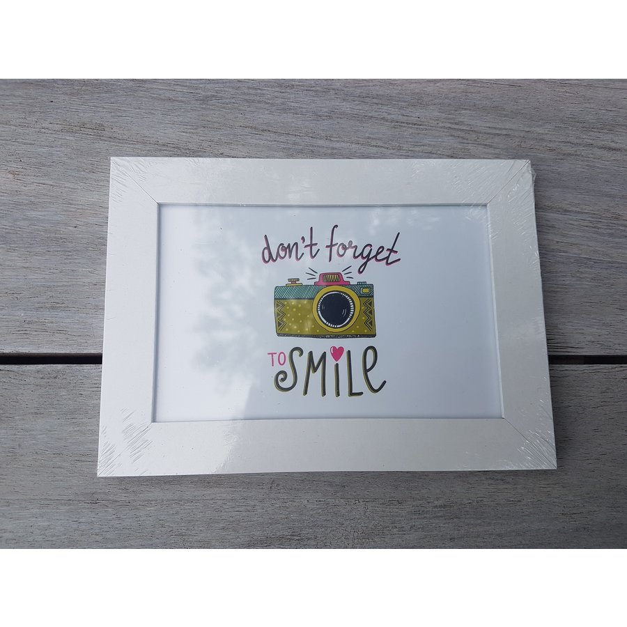 Cadre Don't forget to smile-1
