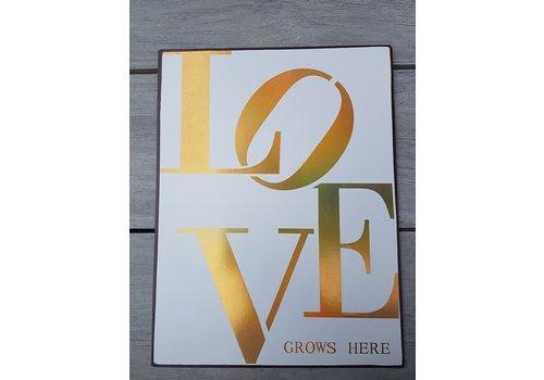 Panneau Love grows here