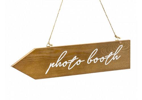 Plaque de photobooth en bois 36 x 7,5cm