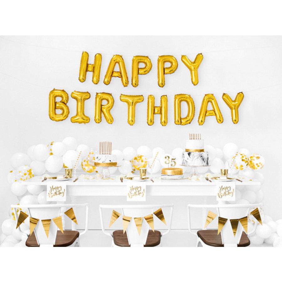 Servet happy birthday goud (20 st.)-3