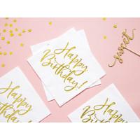 thumb-Servet happy birthday goud (20 st.)-4