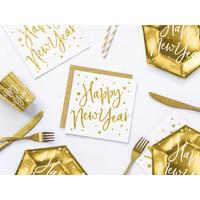 thumb-Servet Happy New Year goud (20 st.)-2