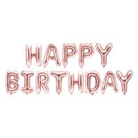 thumb-Folieballon Happy Birthday rosé-1