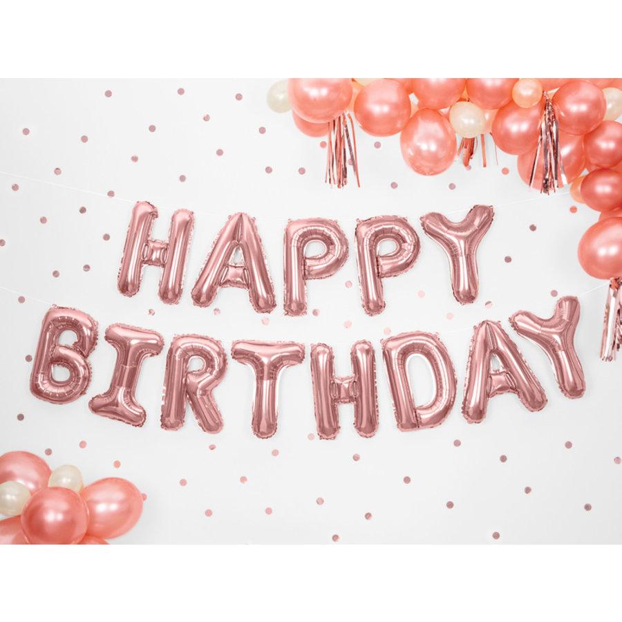 Folieballon Happy Birthday rosé-2