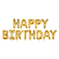 thumb-Folieballon Happy Birthday goud-1