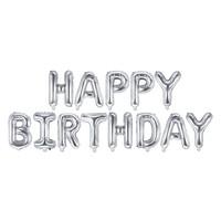 thumb-Folieballon Happy Birthday zilver-1