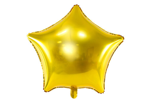 Ballon en aluminium or étoile (70 cm)