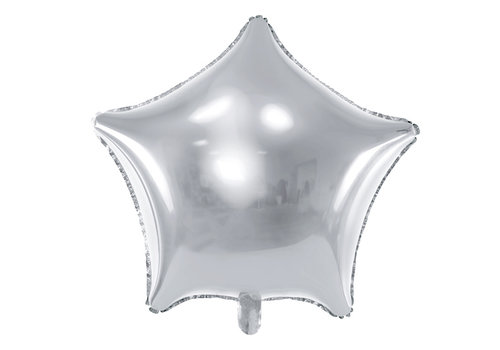 Ballon en aluminium étoile d'argent  (70 cm)
