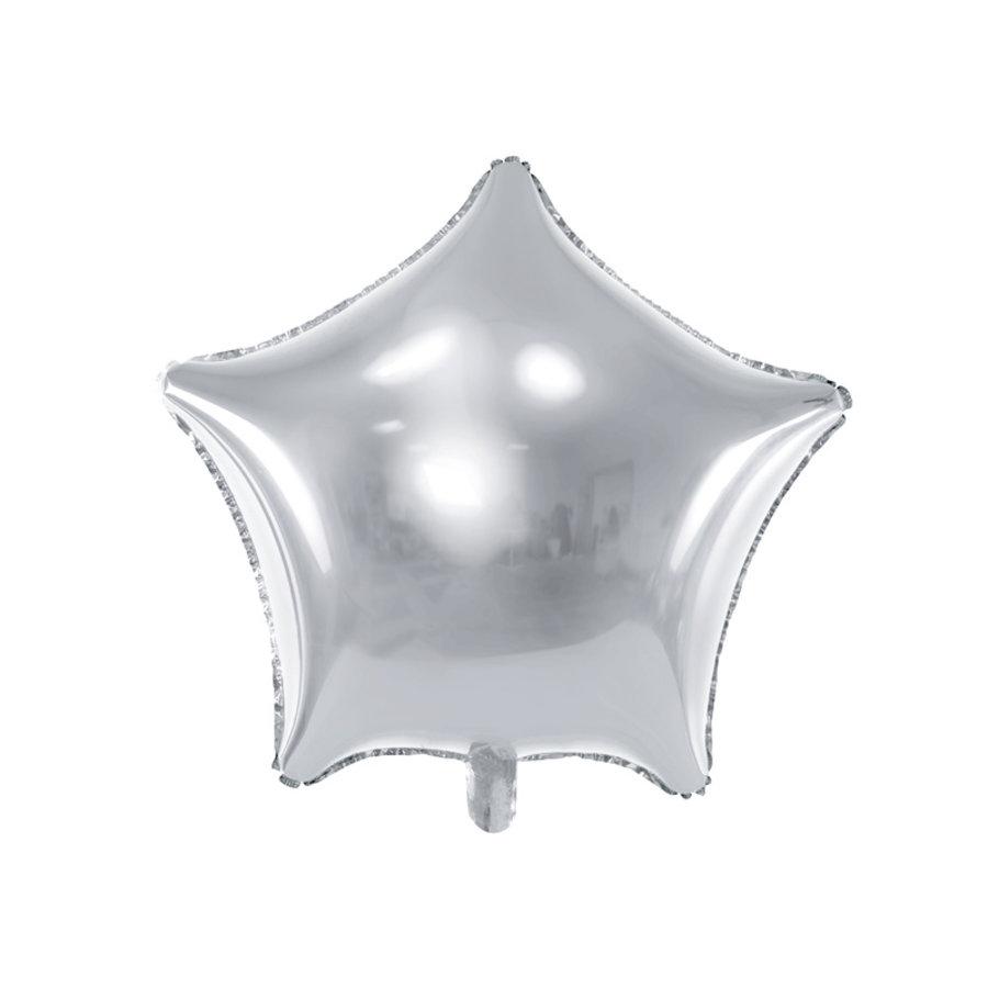 Folieballon ster zilver (70 cm)-1