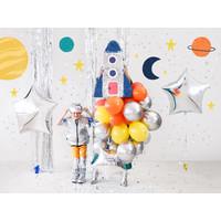 thumb-Folieballon ster zilver (70 cm)-2