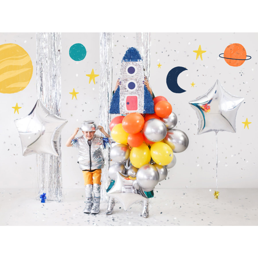Folieballon ster zilver (70 cm)-2