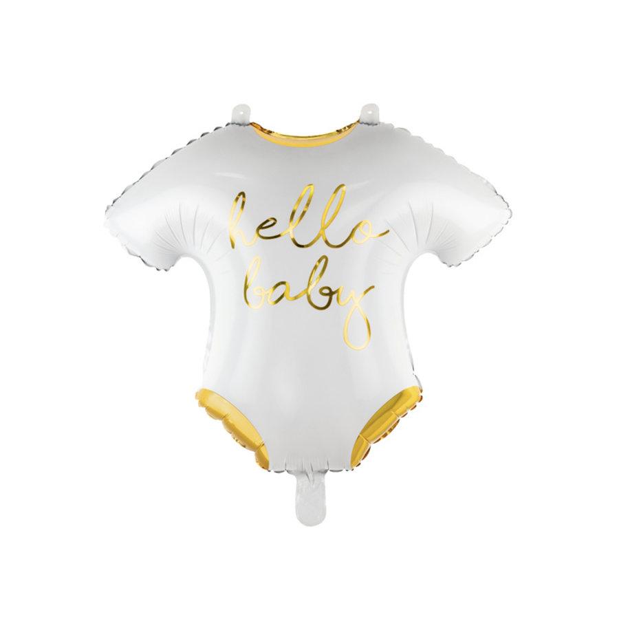 Folieballon romper hello baby-1