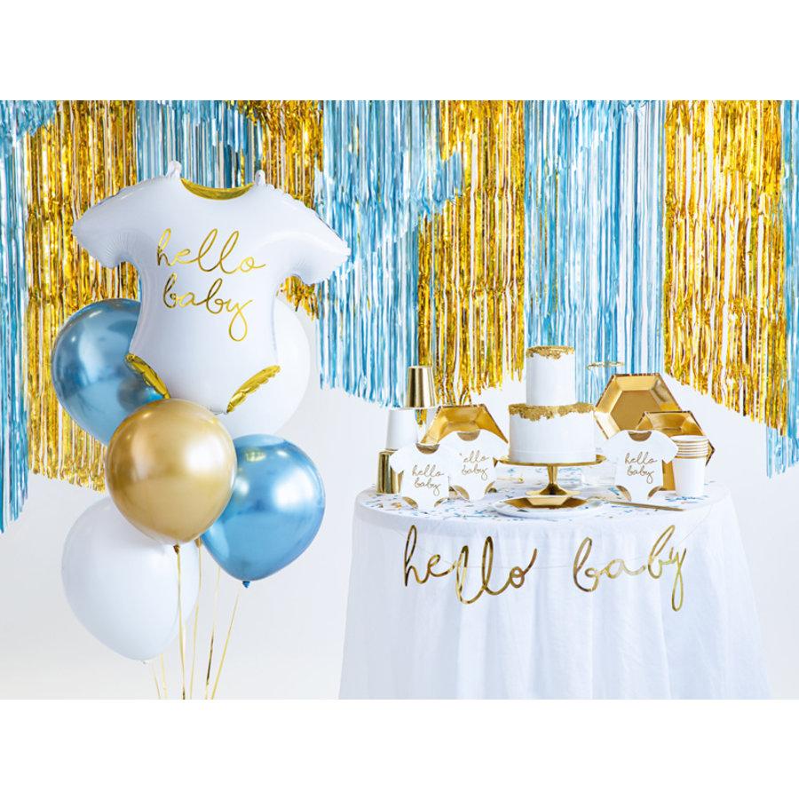 Folieballon romper hello baby-3
