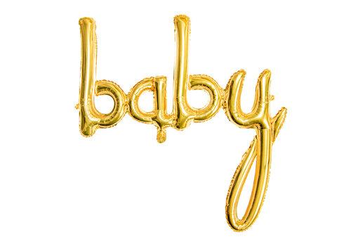 Ballon en aluminium Baby d'or