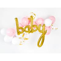 thumb-Folieballon baby goud-2