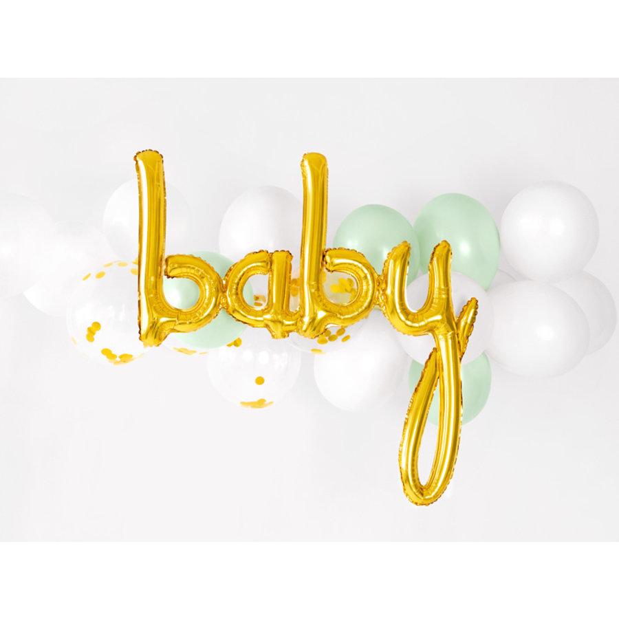 Folieballon baby goud-3