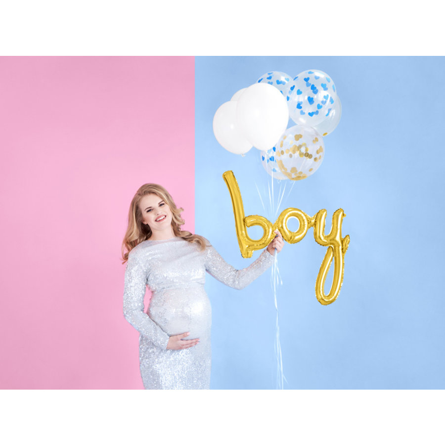Folieballon Boy goud-3