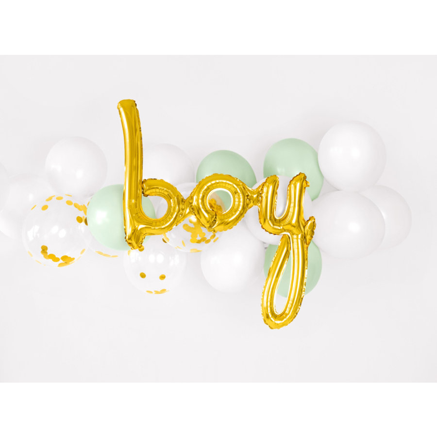 Folieballon Boy goud-2