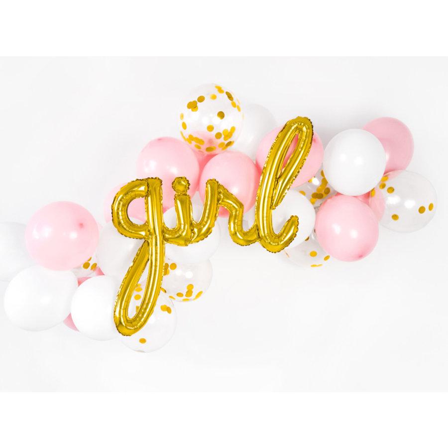 Folieballon Girl goud-2
