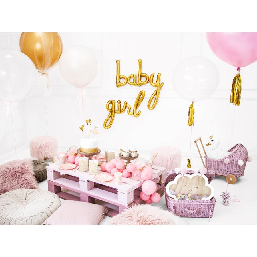 Folieballon Girl goud-3