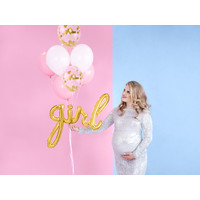 thumb-Folieballon Girl goud-4