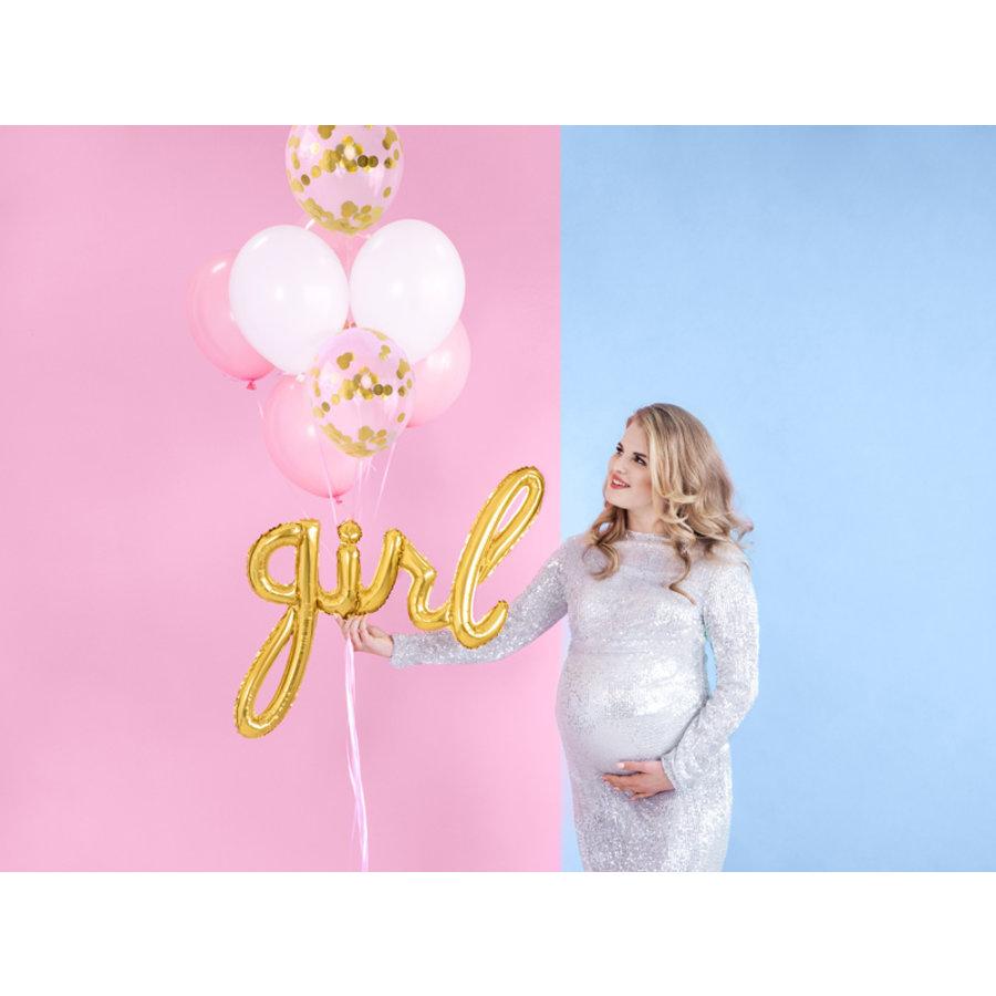 Folieballon Girl goud-4