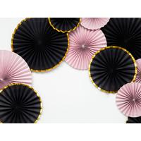 thumb-Papieren waaiers zwart met goud (3 stuks)-4