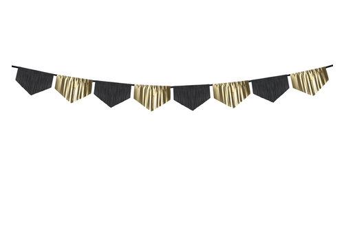 Guirlande à franges noir et doré (3 m)