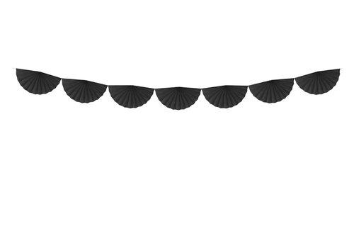 Guirlande rosette daphné noir (3m)