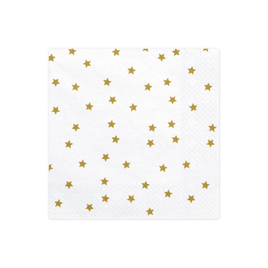 Servet ster goud (20 st.)-1