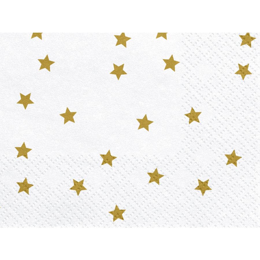 Servet ster goud (20 st.)-2