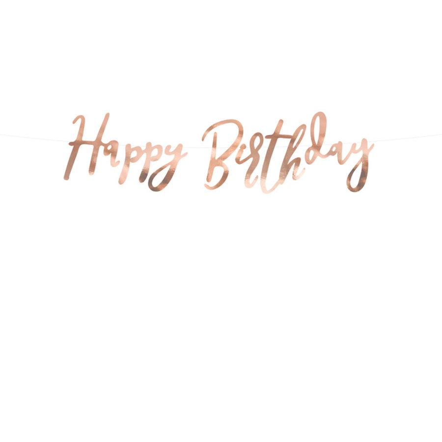 Slinger Happy Birthday rosé goud-1