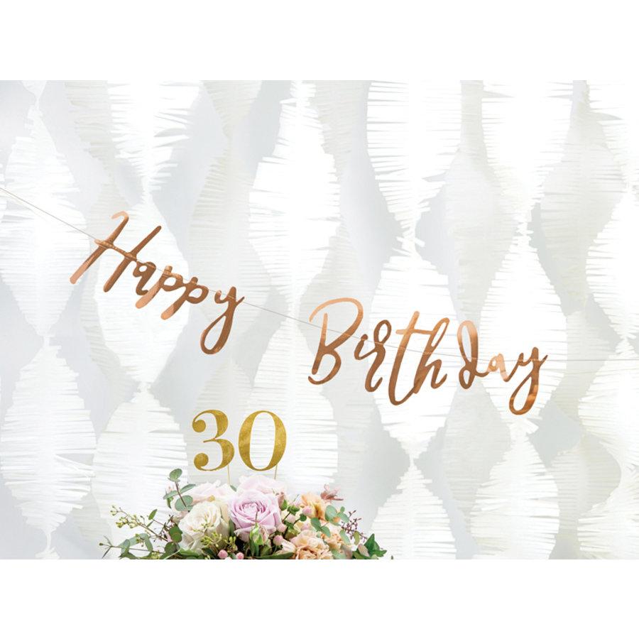 Slinger Happy Birthday rosé goud-3