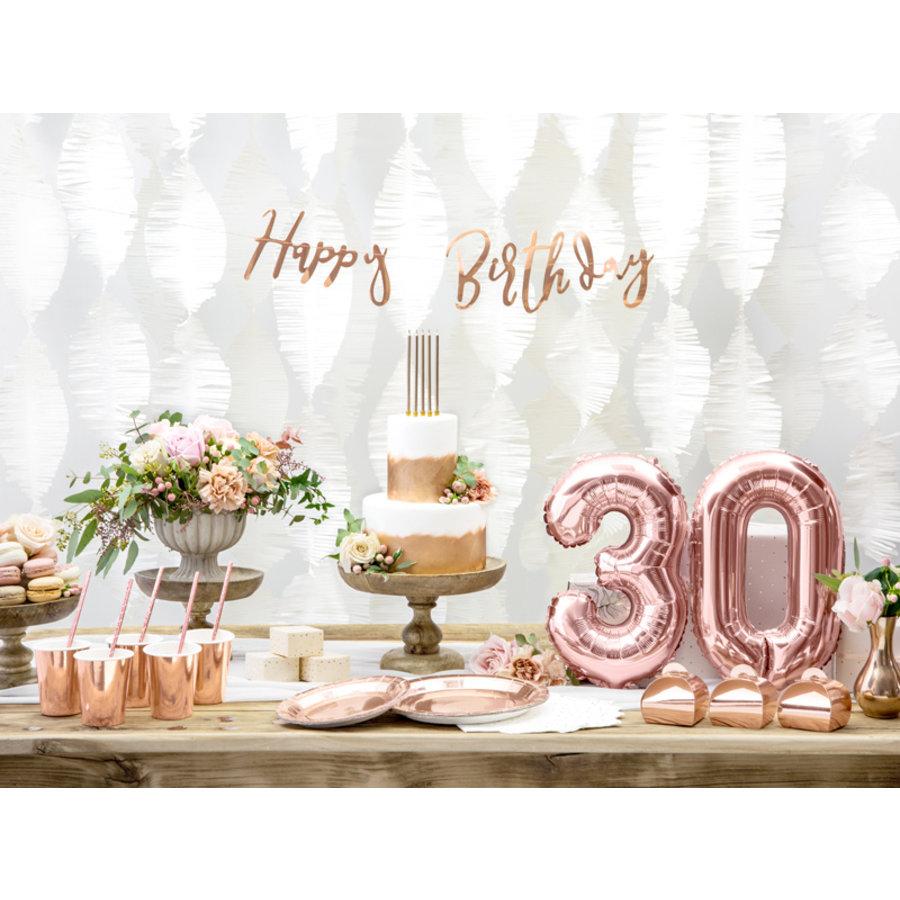 Slinger Happy Birthday rosé goud-4