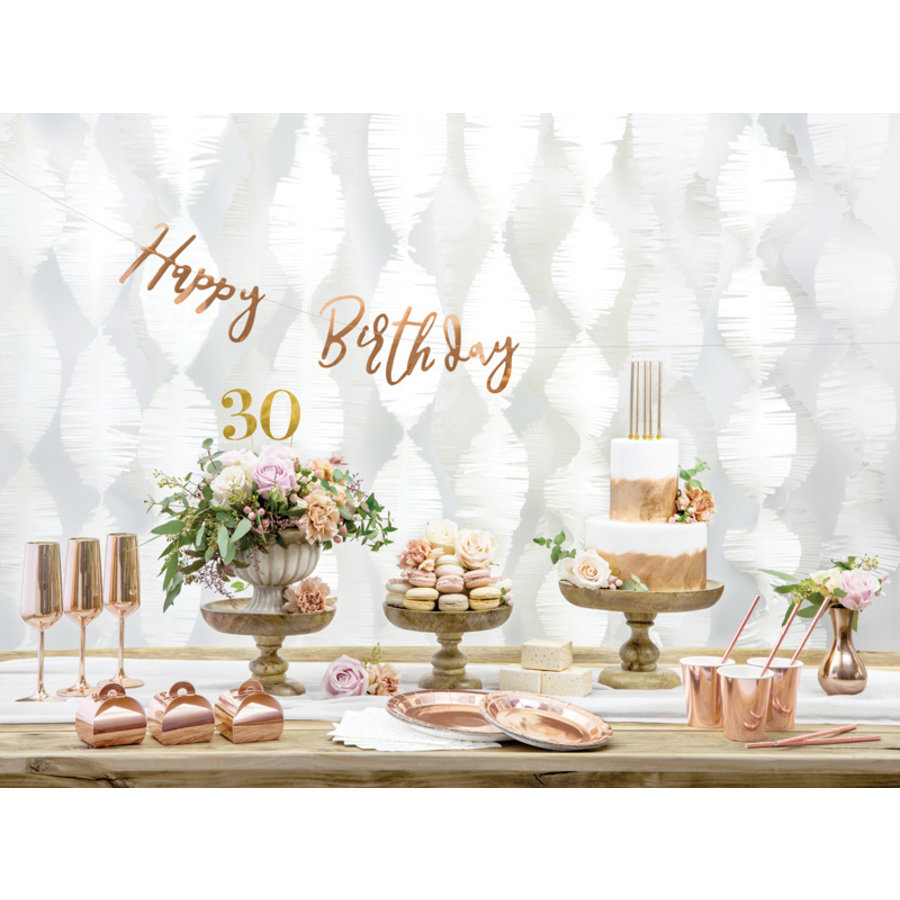 Slinger Happy Birthday rosé goud-5