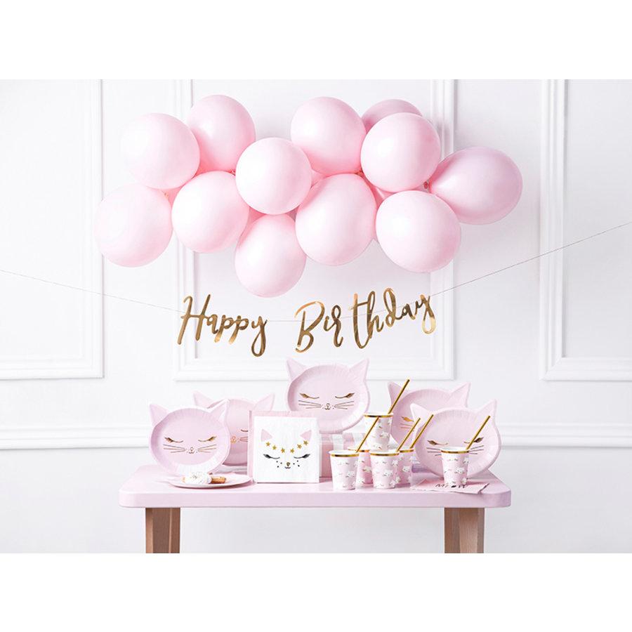Slinger Happy Birthday rosé goud-7