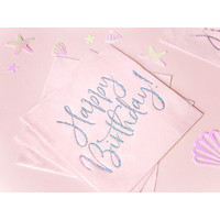 thumb-Servet happy birthday roze (20 st.)-3