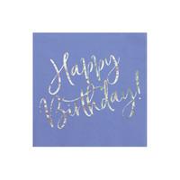 thumb-Servet happy birthday paars (20 st.)-1