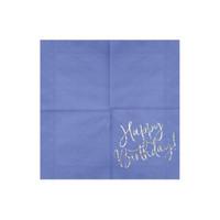 thumb-Servet happy birthday paars (20 st.)-2