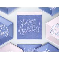 thumb-Servet happy birthday paars (20 st.)-3