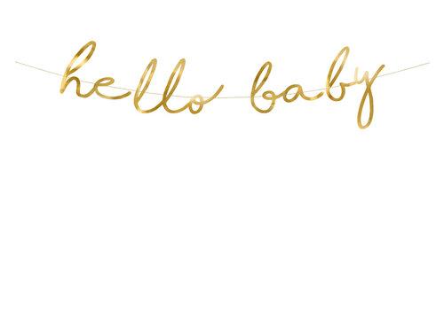 Guirlande Hello Baby doré